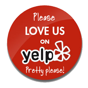 Yelp business review badge